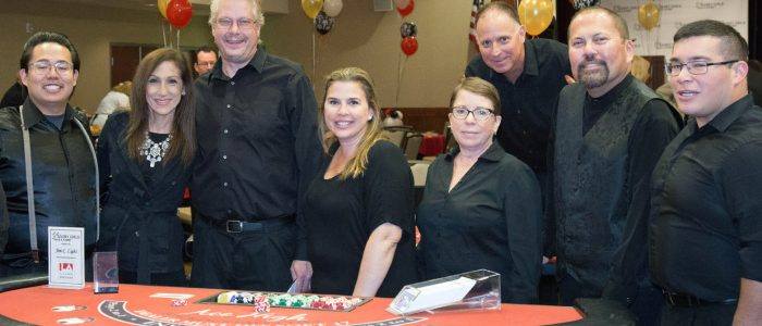 Ace High casino party dealers at Newport fundraiser