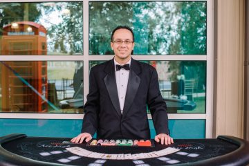 Ace High dealer at Blackjack table