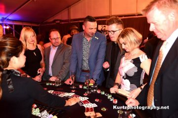 Ace High Blackjack table rental at private party