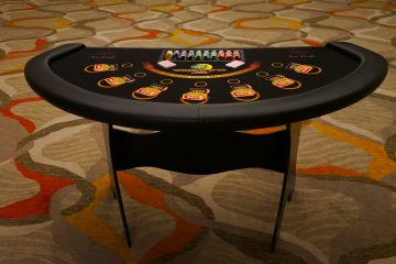 Ace High caribbean stud poker table rental