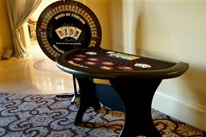 Ace High Casino Wheel of Fortune table rentals – Dana Point St Regis