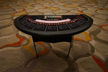 Ace High Let it Ride casino table rentals
