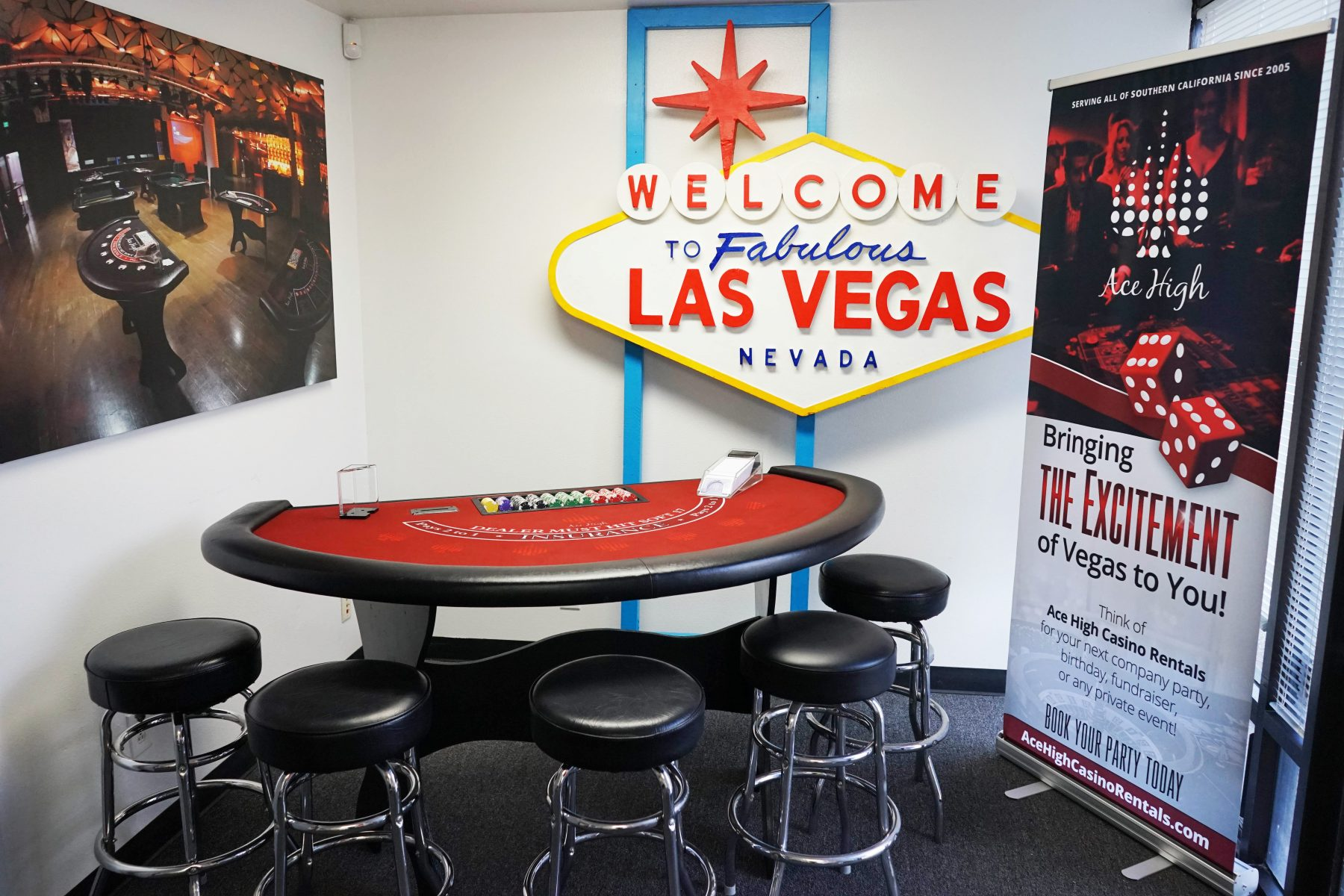 Ace High Ribbon Cutting - Welcome to Las Vegas Sign 2