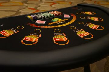 Carribbean Stud Poker table rentals - Ace High Casino Rentals