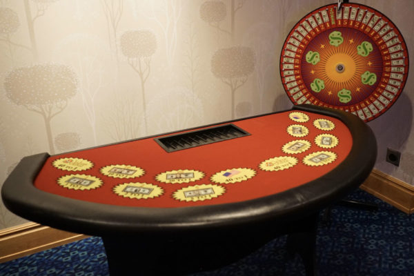 wheel of fortune table rentals